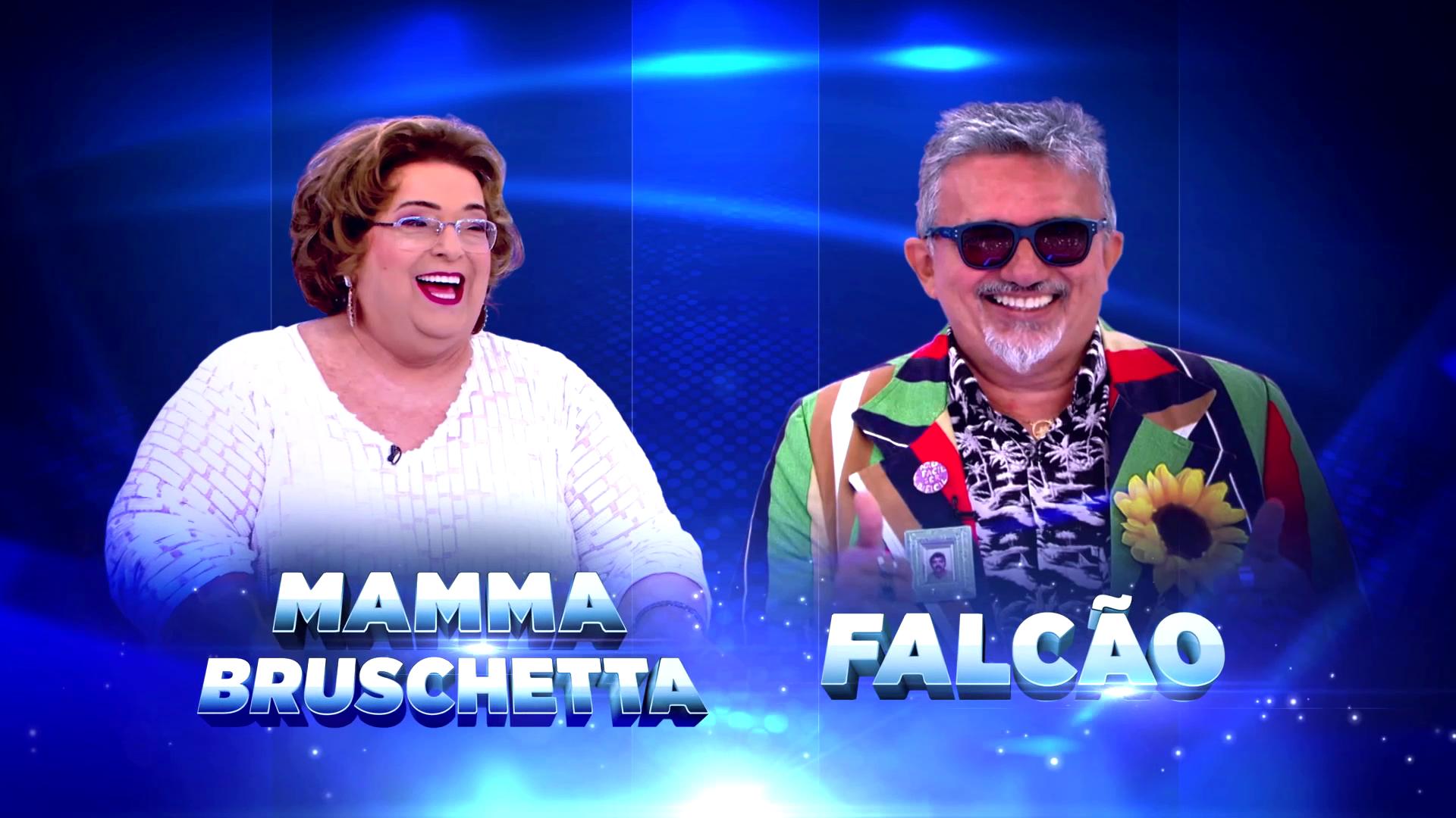 Mamma Bruschetta e Falcão no Jogo das 3 Pistas