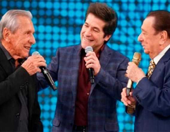Raul com Daniel e pai