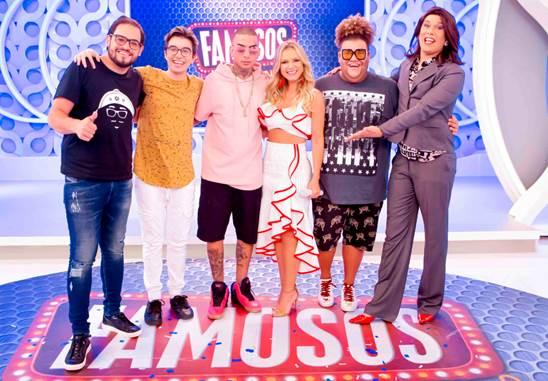 No programa Eliana, MC Guimê, Gominho, o youtuber Cauê, Matheus Ceará e a Narcisa formam o júri do ´Famosos da Internet´ desta semana