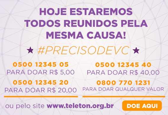 Número de doações para o Teleton 2019