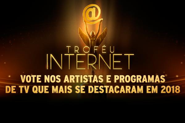 Arte votação troféu internet
