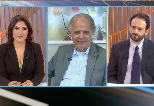 José Múcio, ex-presidente do TCU, em entrevista aos jornalistas Roseann Kennedy (SBT) e Edson Sardinha (Congresso em Foco) no programa Poder em Foco. Foto: SBT
