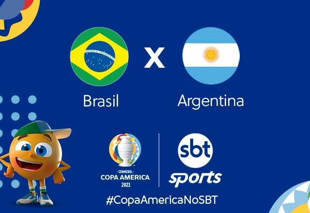 SBT terá cobertura especial para final da copa América entre Brasil x  Argentina - SBT