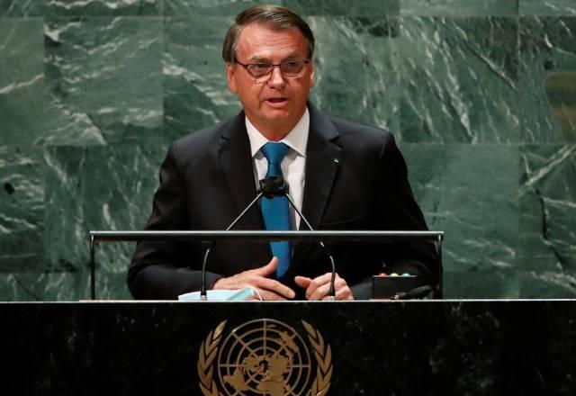 Bolsonaro discursou na abertura da 76ª Assembleia Geral da ONU | reprodução/YouTube/UN